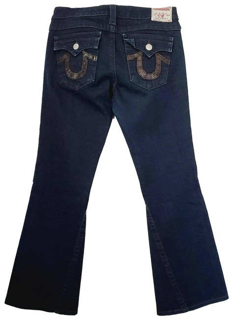 Item - Blue Flare Leather Pocket Joey Boot Cut Jeans Size 30 (6, M)