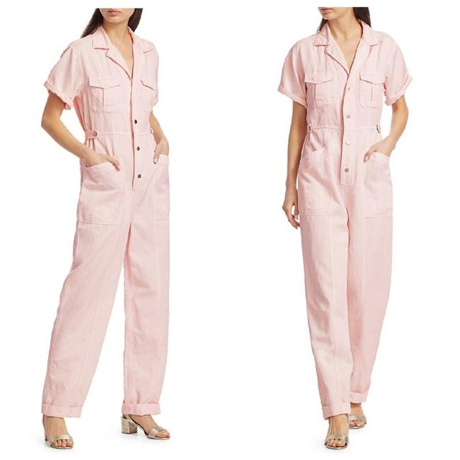 Item - Pink L Petra Short-sleeve Morganite Size 00 Romper/Jumpsuit