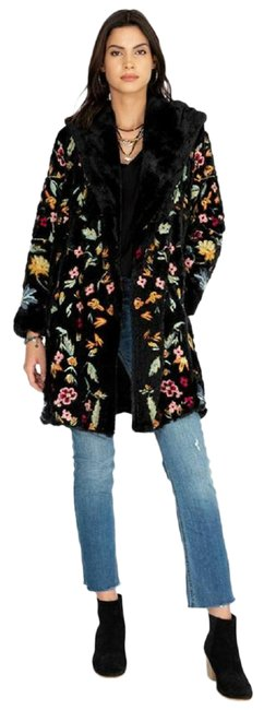 Item - Multicolor Johnny Was Embroidered Sona Hooded Jacket Faux Coat Size 14 (L)