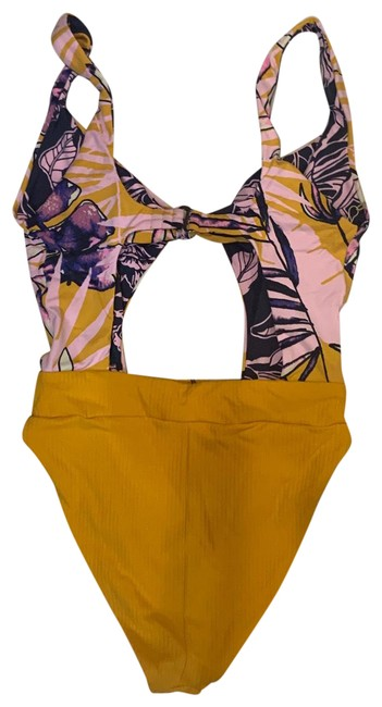 Item - Multicolor Double Sided One-piece Bathing Suit Size 12 (L)