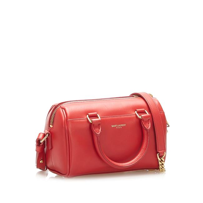 Item - Duffle Classic Red Leather Satchel