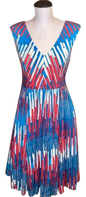 Item - Multicolor Gallery Row Mid-length Cocktail Dress Size 4 (S)