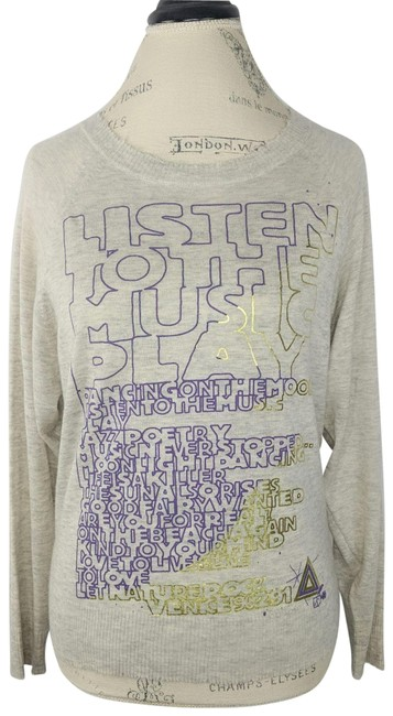 Item - Graphic Distressed Cashmere Gray Sweater