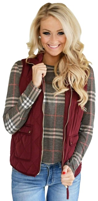 Item - Red Excursion Quilted Down Heather Cabernet Burgundy C8550 Vest Size 6 (S)