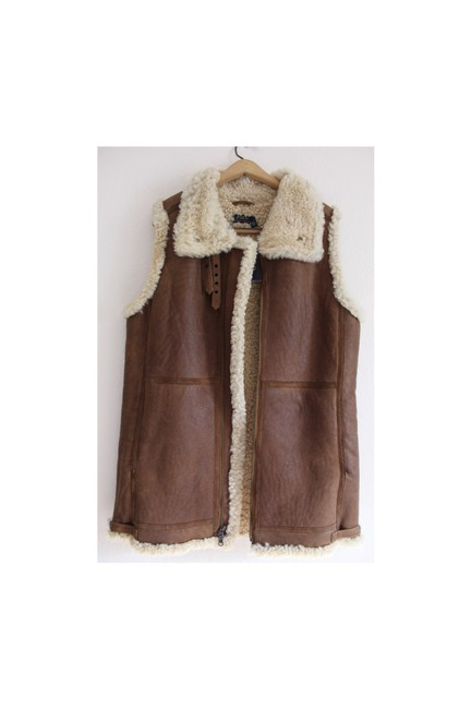 Item - Shearling Vest Brown/Tan Sweater