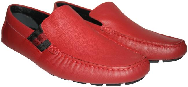 Item - Red Men's Leather Web Drivers Loafers Formal Shoes Size US 9.5 Regular (M, B)