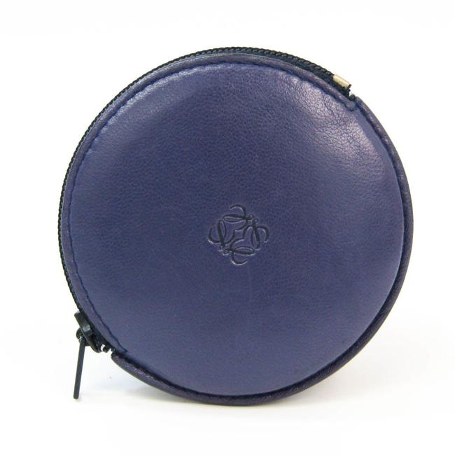 Item - Purple Anagram Logo Unisex Leather Coin Purse/Coin Case Wallet