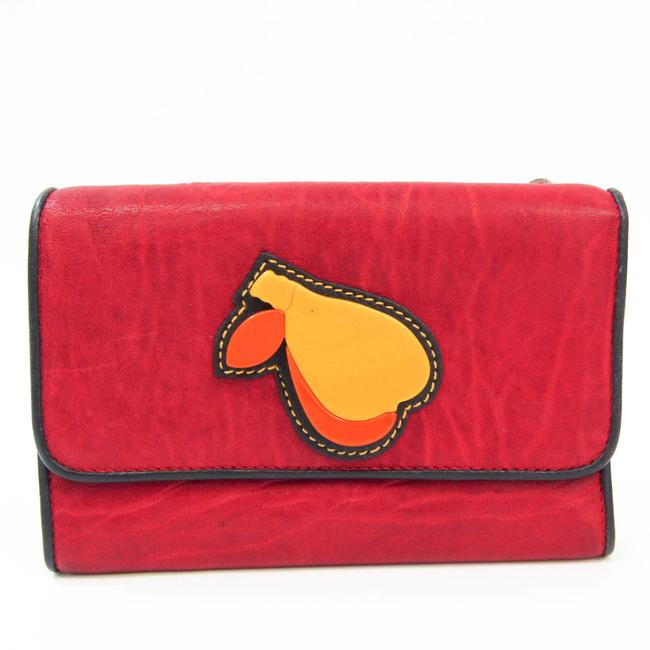 Item - Black / Red Color Women's Leather Middle (Tri-fold) Wallet