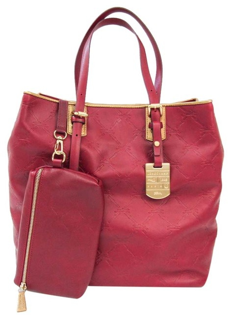 Item - Bag Cuir 1837 746 318 Women's Dark Red / Gold Leather Tote