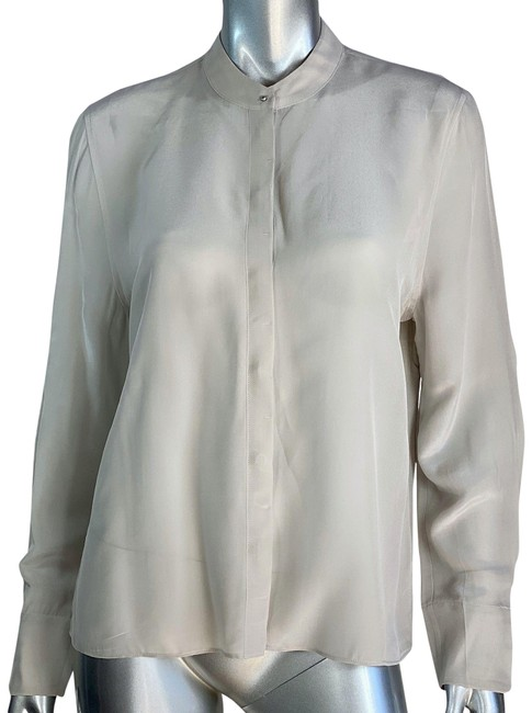 Item - Oatmeal Ando Silk Blend Blouse Size 8 (M)