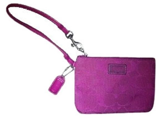 Preload https://item5.tradesy.com/images/coach-pink-signature-small-wristlet-wallet-28924-0-1.jpg?width=440&height=440