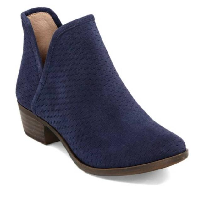 Item - Blue Baley Leather Lacer Cut Suede Ankle Boots/Booties Size US 8 Regular (M, B)