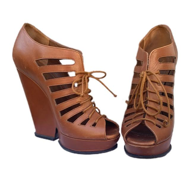 Item - Brown Caged Ankle Boots/Booties Size EU 38.5 (Approx. US 8.5) Regular (M, B)