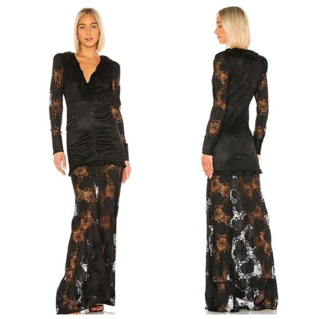 Item - Black Revolve Lucasta Lace Maxi Gown Formal Dress Size 0 (XS)