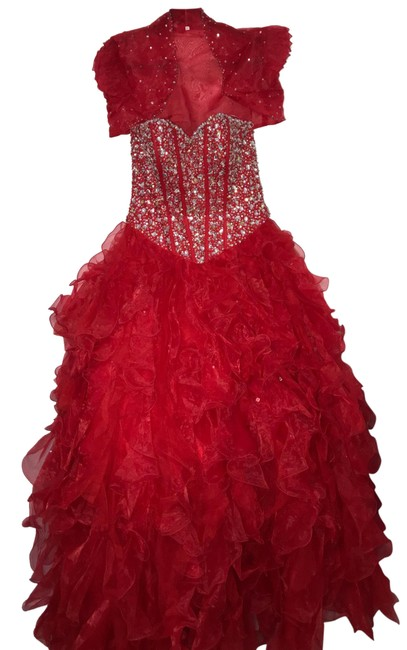 Item - Red Ball Gown Long Formal Dress Size 10 (M)