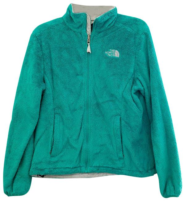 """Item - Green Turquoise """"Osito"""" Zip Up Sweater Small Halter Top Size 4 (S)"""