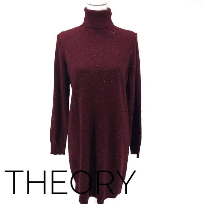 Item - Red Cashmere Sweater Current Donegal M Short Casual Dress Size 8 (M)