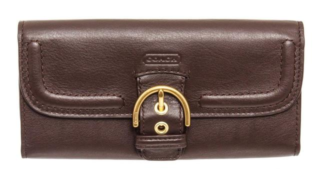 Item - Brown Campbell Leather Slim Buckle Wallet