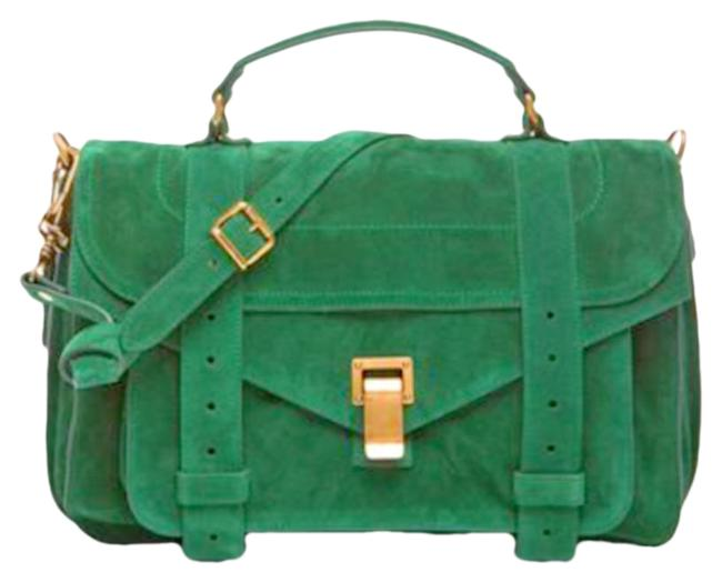 Item - Ps1 Green Leather Satchel