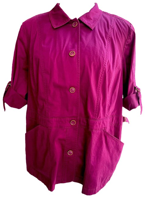 Item - Purple Added Dimensions Button Up Long Sleeve Women's 3x Jacket Size 26 (Plus 3x)