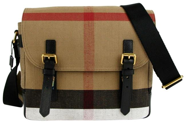 Item - Unisex Baildon House-check 4020246 Camel Canvas Messenger Bag