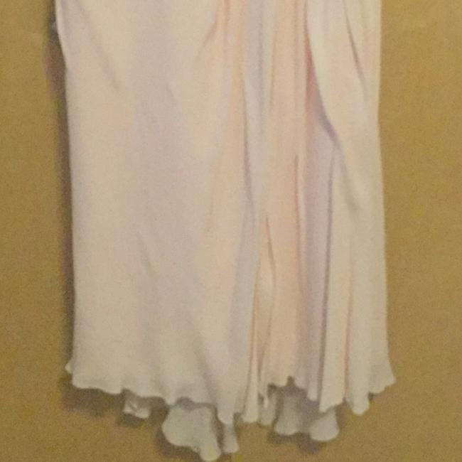 Badgley Mischka Pink Draped Sequin Lace Gown In Blush Long Casual Maxi Dress Size 10 (M) Badgley Mischka Pink Draped Sequin Lace Gown In Blush Long Casual Maxi Dress Size 10 (M) Image 2