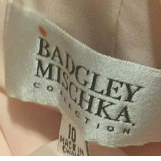 Badgley Mischka Pink Draped Sequin Lace Gown In Blush Long Casual Maxi Dress Size 10 (M) Badgley Mischka Pink Draped Sequin Lace Gown In Blush Long Casual Maxi Dress Size 10 (M) Image 11