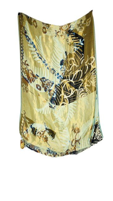 """Item - Multi Color Milano Blue Green Gold New 25"""" X 76"""" Scarf/Wrap"""