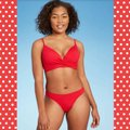 California Waves Candy Red Ribbed Hipster Bikini Bottom Size 0 (XS) California Waves Candy Red Ribbed Hipster Bikini Bottom Size 0 (XS) Image 2