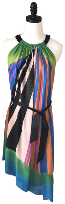 Item - Multicolor Asymmetrical Mid-length Night Out Dress Size 6 (S)