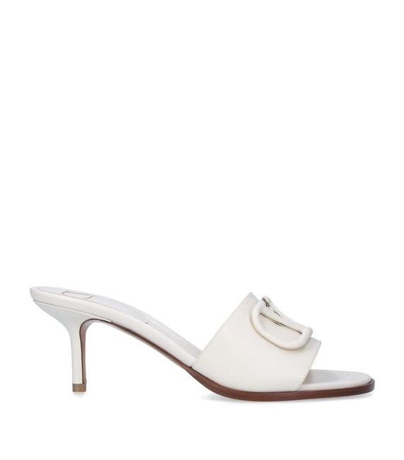 Item - Bone Garavani Leather 65 Mules/Slides Size EU 39.5 (Approx. US 9.5) Regular (M, B)