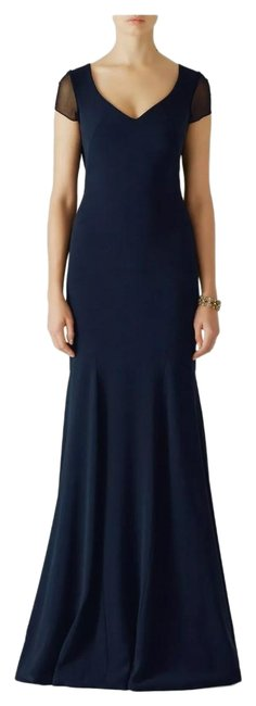 Item - Navy Blue Smooth Mermaid Gown Long Formal Dress Size 6 (S)