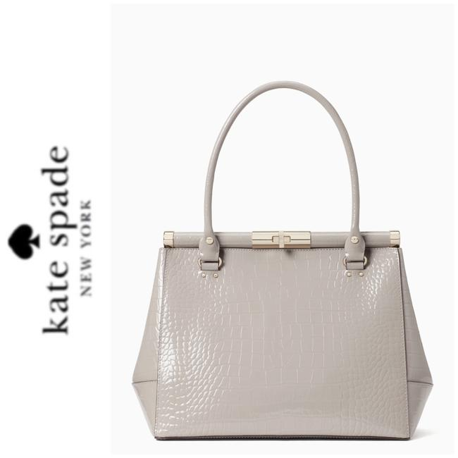 Item - Constance Satchel Gray Leather Tote