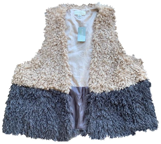 Item - Taupe/Grey Vest Size 16 (XL, Plus 0x)