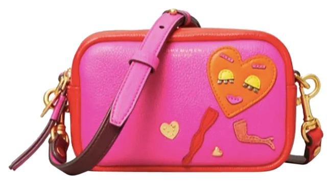 Item - Mini Perry Patchwork Hearts Red/Pink Leather Cross Body Bag