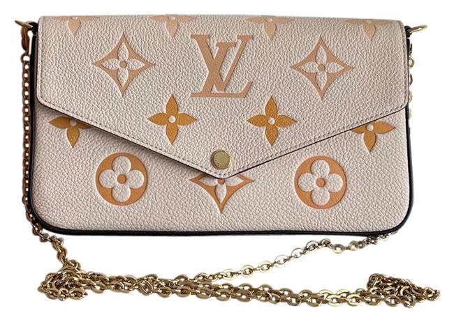 Item - Pochette Felicie By The Pool Summer Collection Cream Saffron Leather Cross Body Bag