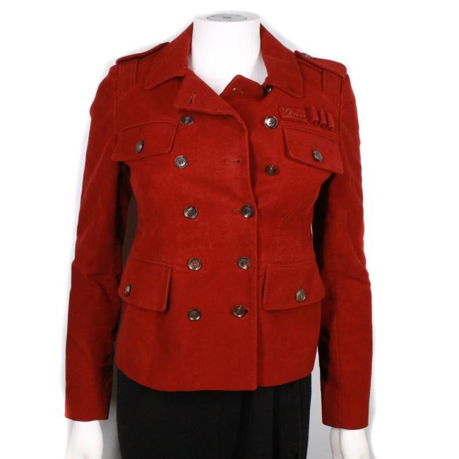 Gucci Red Hysteria Women's Soldier Patch Button Us - 3 Jacket Size 2 (XS) Gucci Red Hysteria Women's Soldier Patch Button Us - 3 Jacket Size 2 (XS) Image 1