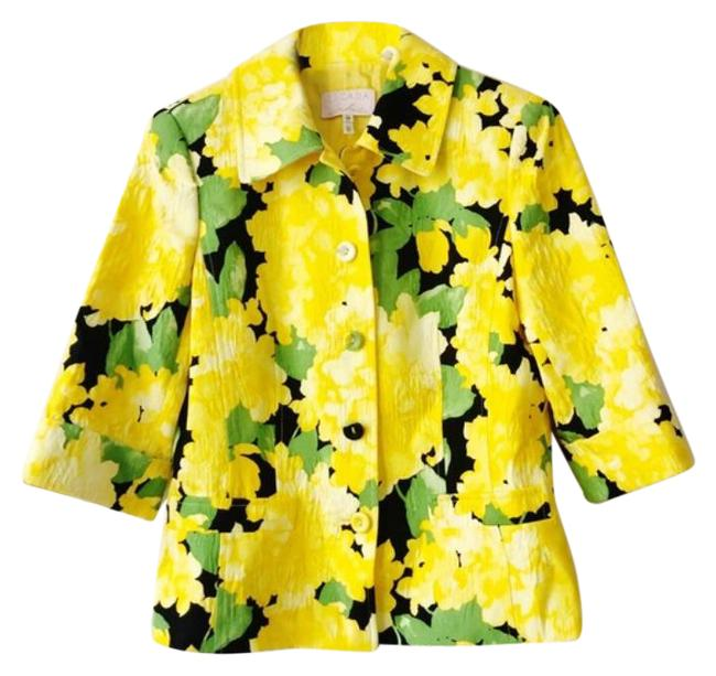 Item - Yellow Green Floral Jacket Size 8 (M)