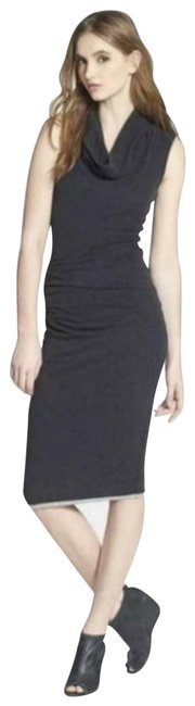 Item - Black Cowl Neck Ruched Casual Maxi Dress Size 2 (XS)