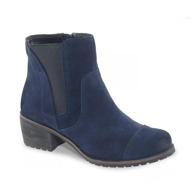 Item - Blue Autumn Suede Leather Ankle Chelsea Boots/Booties Size EU 38 (Approx. US 8) Regular (M, B)