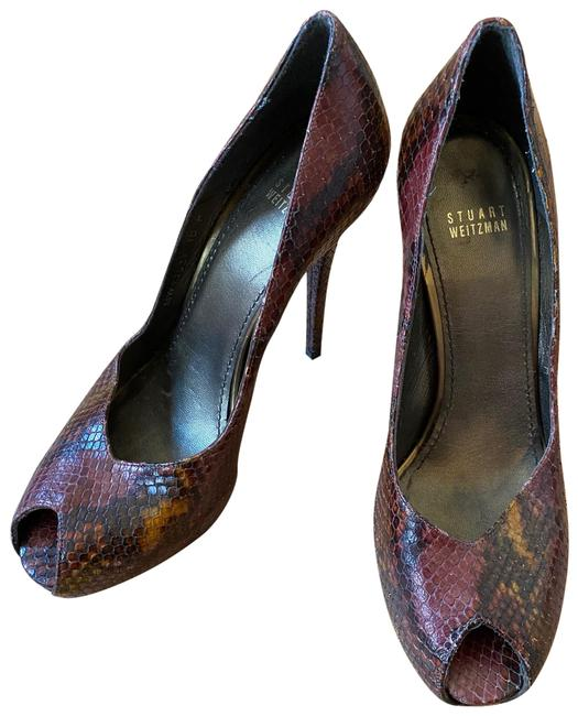 Item - Purple Snakeskin Stilettos Platforms Size EU 40 (Approx. US 10) Regular (M, B)