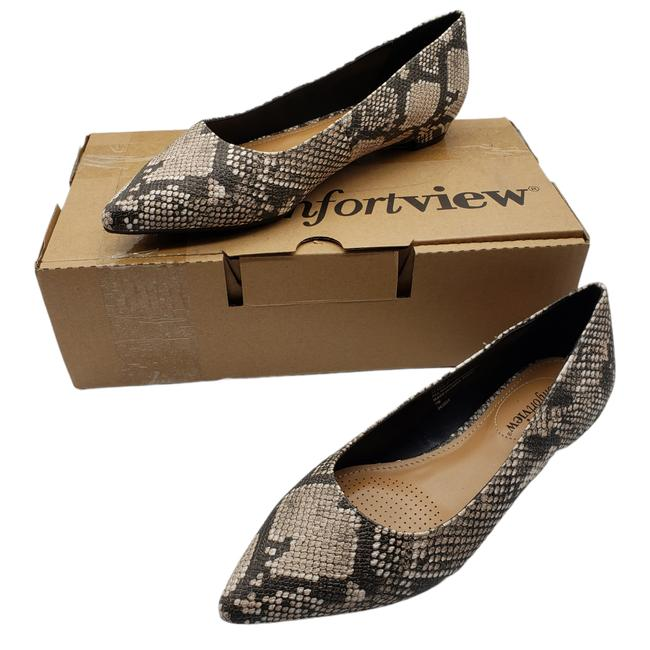 Item - New Olive 7w Snakeskin Pointed Toe Flats Size US 7 Wide (C, D)