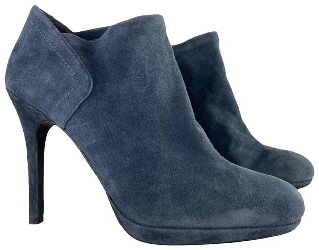 Item - Blue Suede Platform Heel Boots/Booties Size US 8 Regular (M, B)