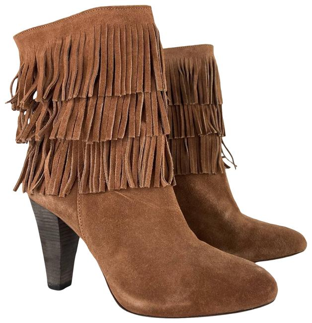 Joie Brown Suede Fringe Mid Calf Boots/Booties Size EU 39 (Approx. US 9) Regular (M, B) Joie Brown Suede Fringe Mid Calf Boots/Booties Size EU 39 (Approx. US 9) Regular (M, B) Image 1