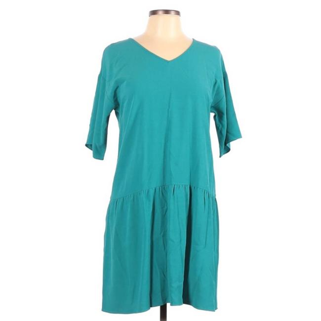 Item - Blue Turquoise Short Sleeve Tent Cocktail Dress Size 2 (XS)