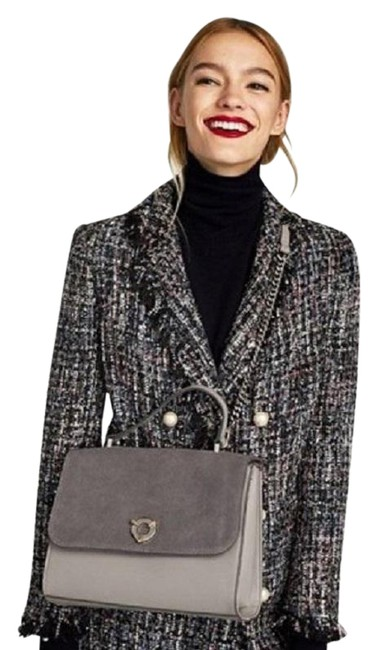Item - Blue Gray Shimmery Tweed with Pearl Buttons Blazer Size 2 (XS)