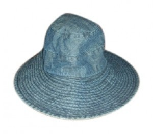 J.Crew Denim Wide Brimmed Hat
