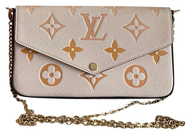 Item - Pochette Felicie By The Pool Summer Collection 2021 Cream Saffron Leather Cross Body Bag