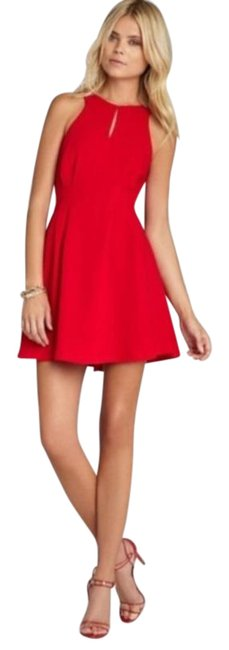 Item - Red Fit N' Flare Short Cocktail Dress Size 4 (S)