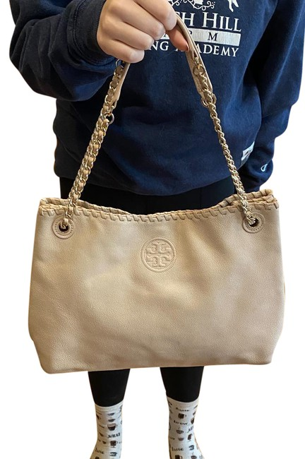 Item - Marion Chain Slouchy Pale Pink Leather Tote